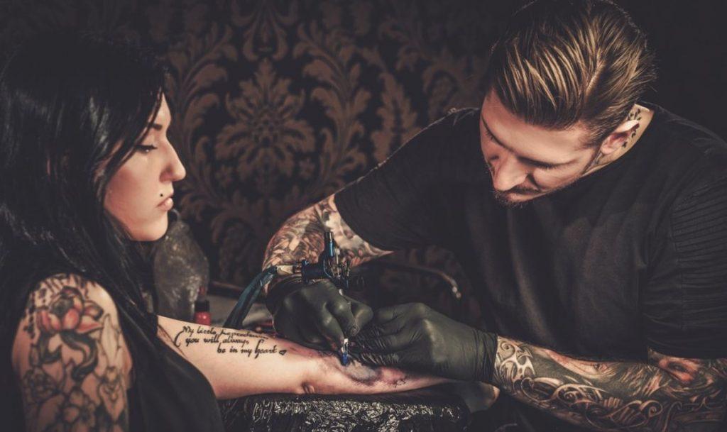 Healing Tattoo girl