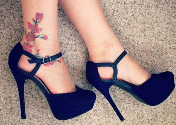 Ankle tattoo for girl