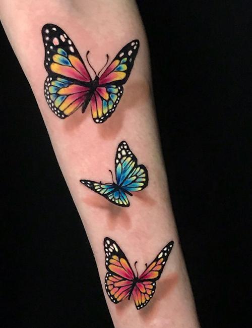 Butterfly 3d tattoos