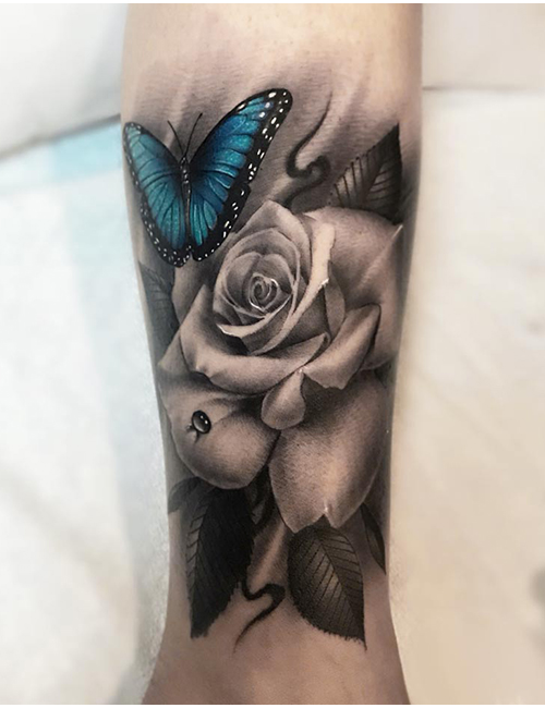 105+ Colorful 🦋 Butterfly Tattoos Ideas | Small Tattoo on ...
