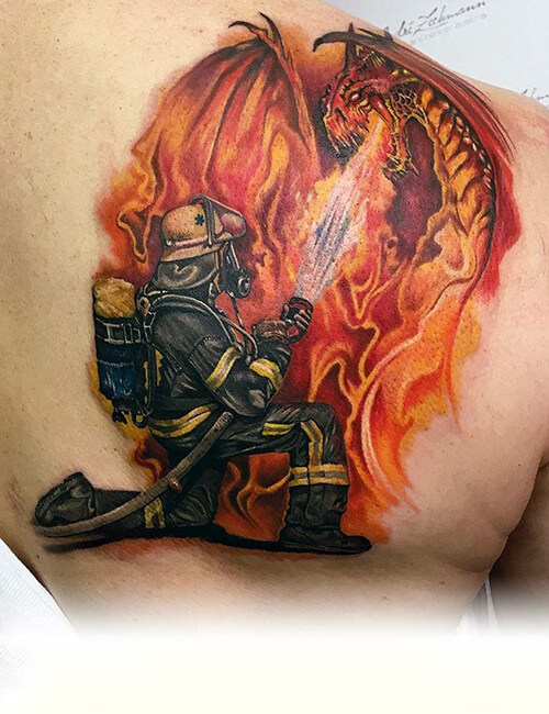 Dragon fire tattoos and ideas