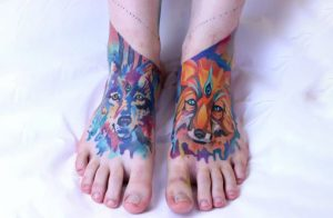 Tattoo placement area in feet