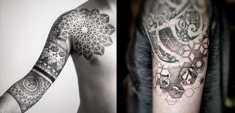 Geometric Dotwork tattoo