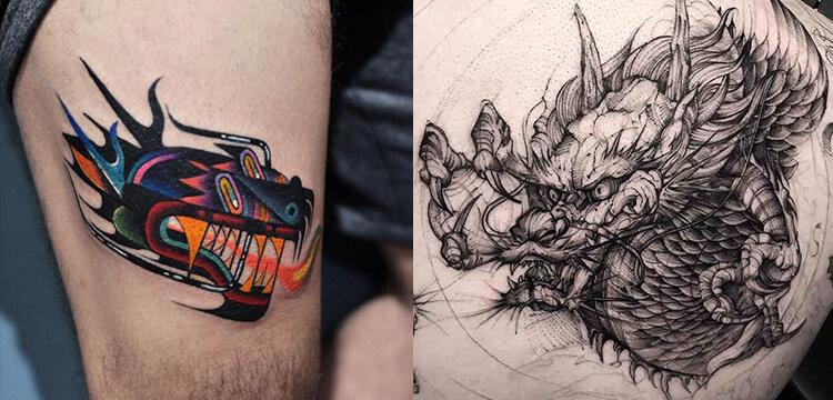 Japanese dragon tattoos ideas