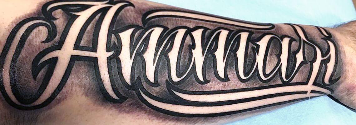 Letters Monograms Tattoo Designs