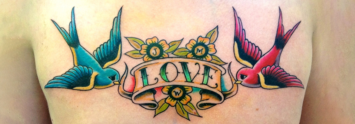 Love Tattoo Designs On Hand Couple Heart Tattoos