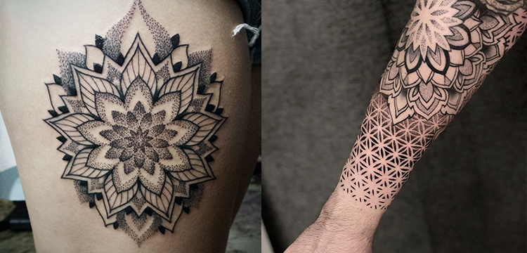 Mandala Dotwork tattoo