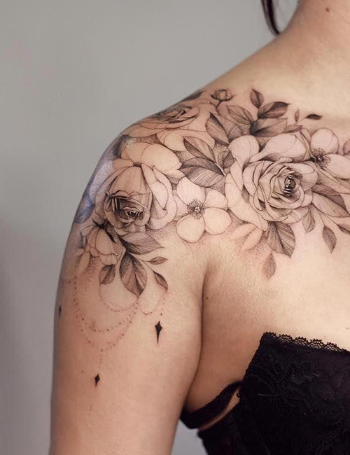 110 Stunning Shoulder Tattoo Designs For Female Male
