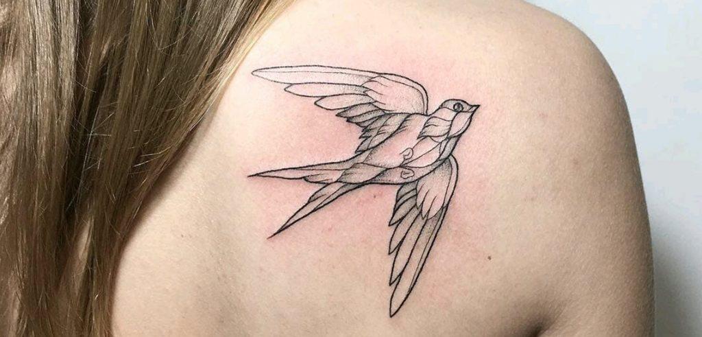 Swallow bird tattoo