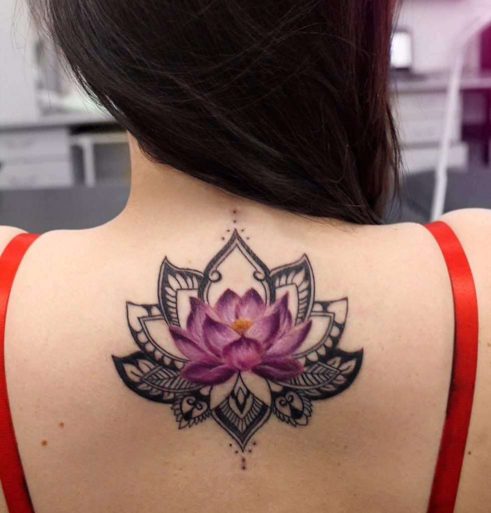 mandala lotus tattoo