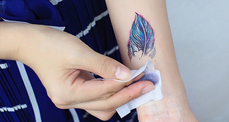 Removing Temporary tattoo