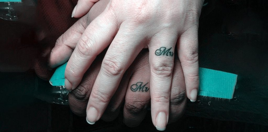 Mr & Mrs Tattoo Designs