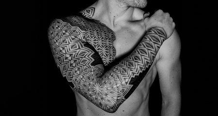 Origin of Black work tattoos