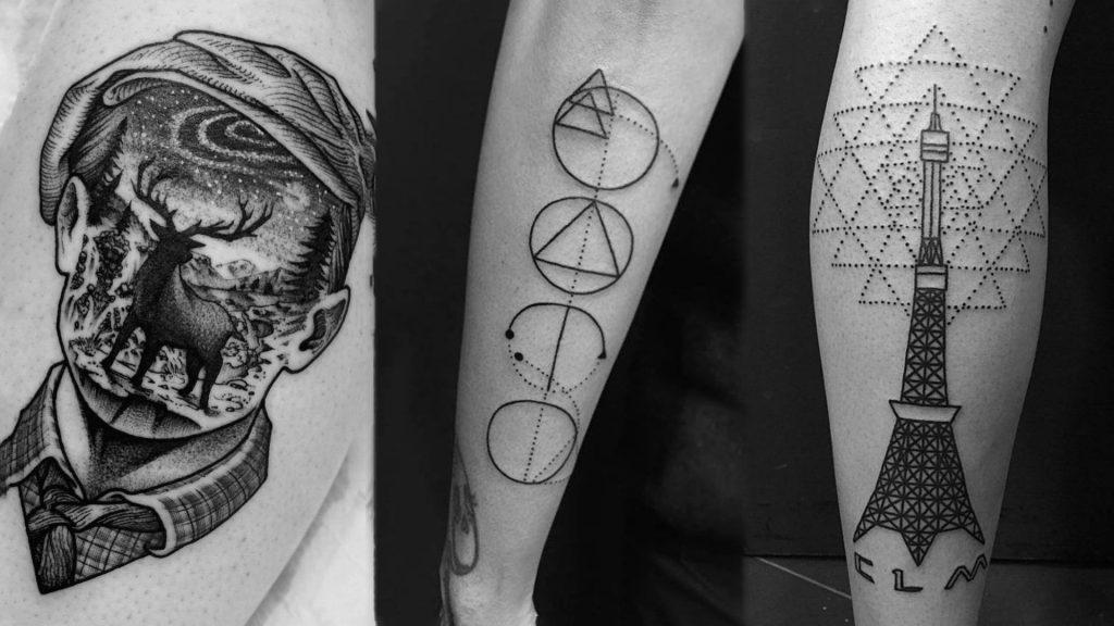 Styles of black work tattoo