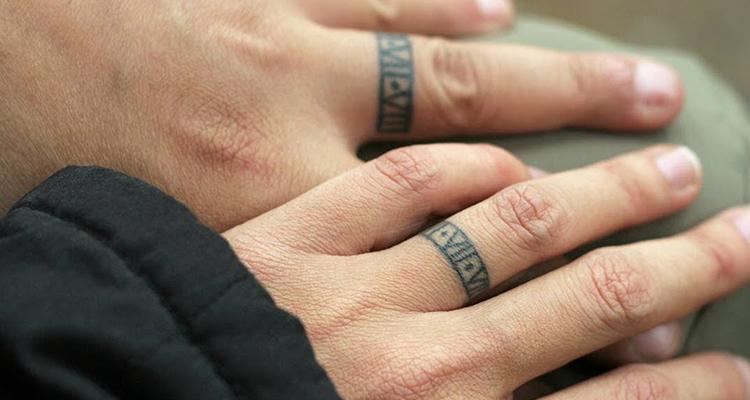 Wedding ring tattoo 10