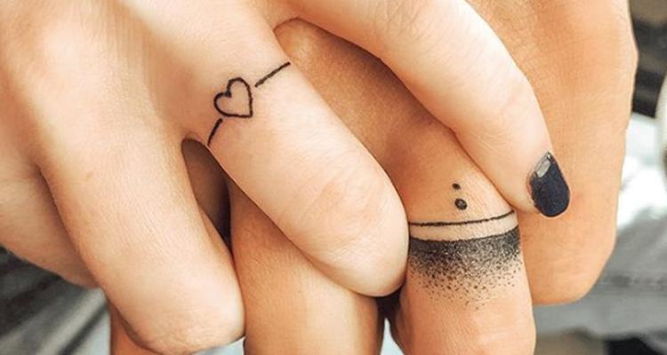 Wedding ring tattoo 11