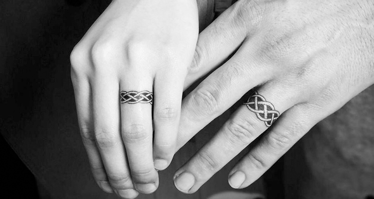 Wedding ring tattoo Ideas