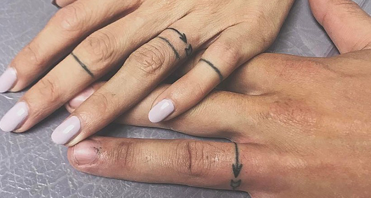 Wedding ring tattoo 14