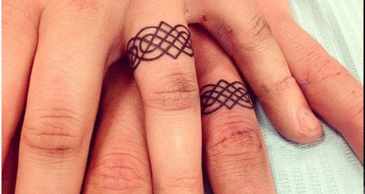 Wedding ring tattoo 4
