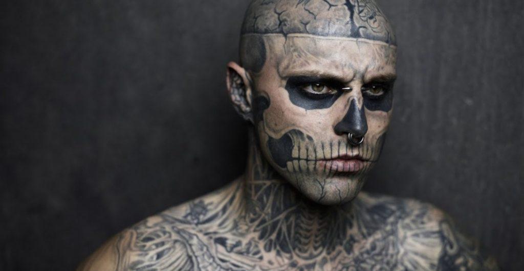 Most bones tattooed on the body