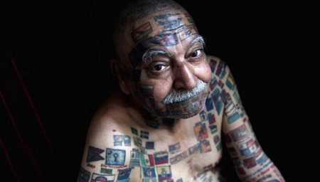 Most flags tattooed on the body