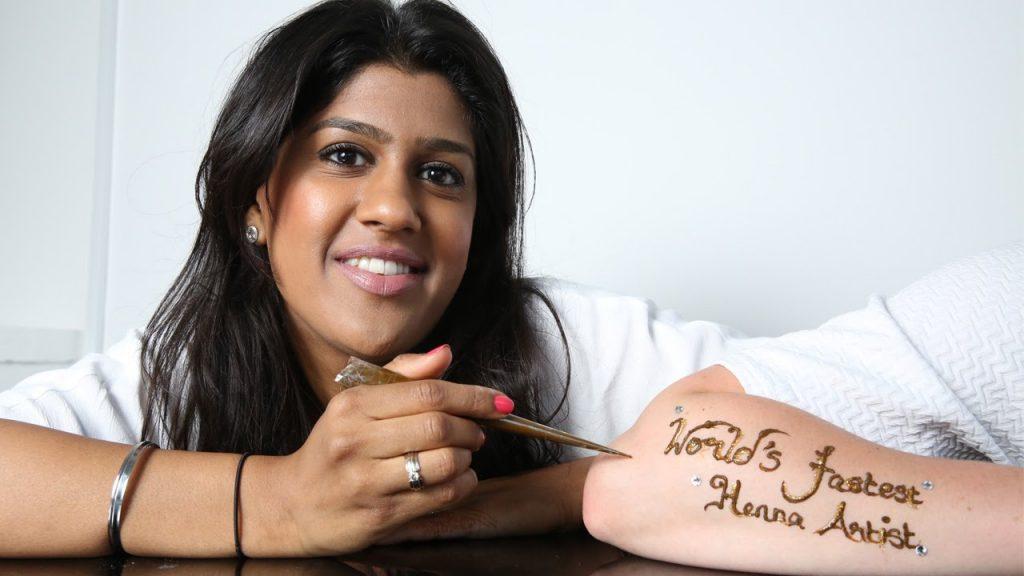 World record on Henna tattoos