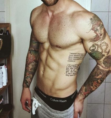 Tattoo on ribs for men