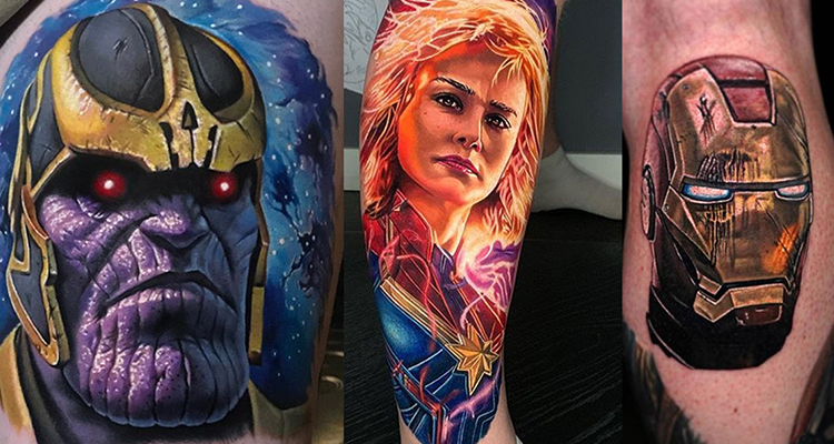 Let's Welcome Avengers Endgame with its Tattoo