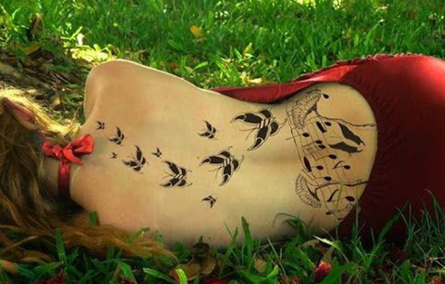 Butterfly Back Tattoo Designs