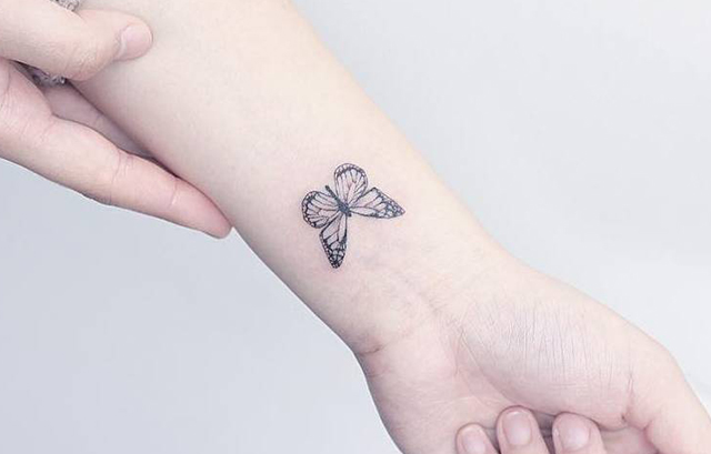 Butterfly tattoo on wrist 2020