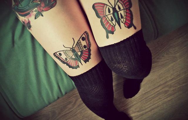Sexy Tattoo on leg
