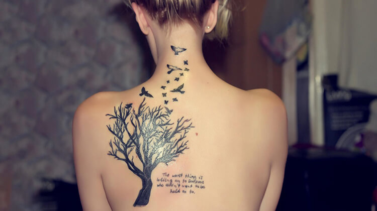 Bird on Tree ink
