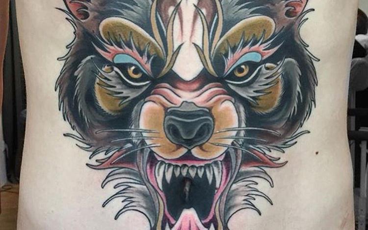 Wolf tatto