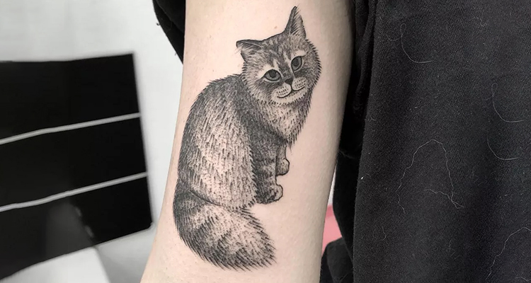 Pet Tattoo Ideas for Pet Lovers 🐶 🐈 🦋