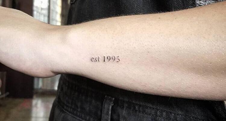 Tiny Date Tattoo