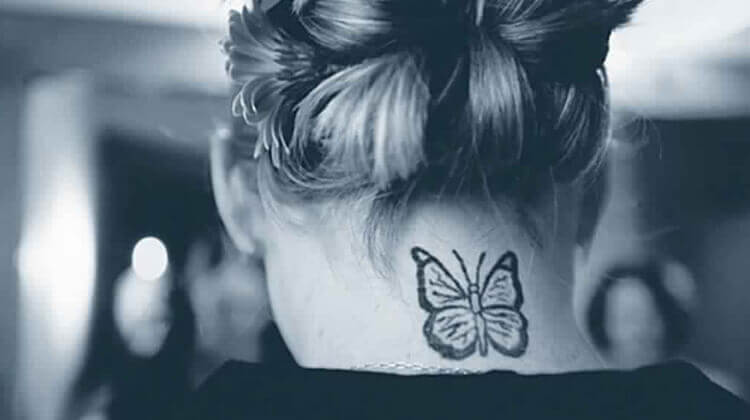 White Butterfly tat