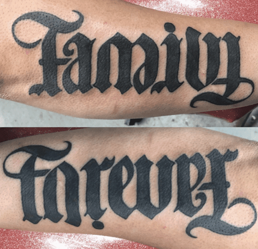 40 Ultimate Ambigram Tattoo Designs , Reversible Tattoo
