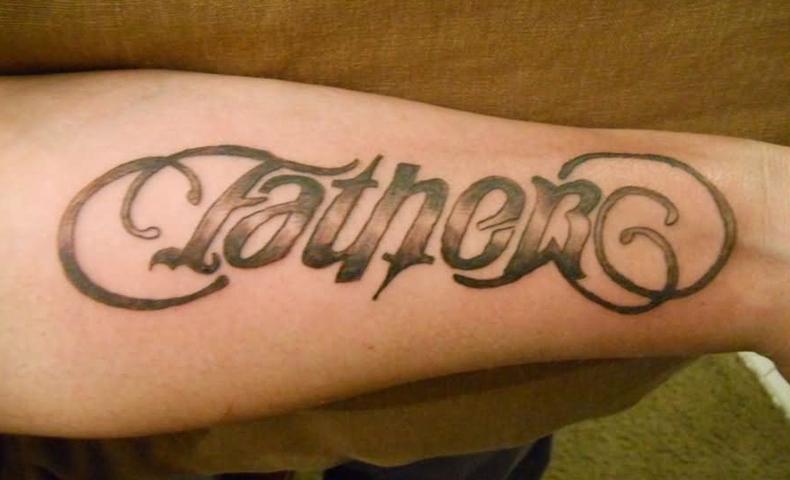 Father Ambigram Tattoo Design