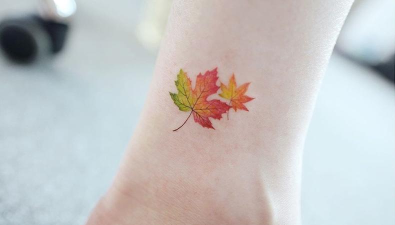 Leaf tattoo ideas
