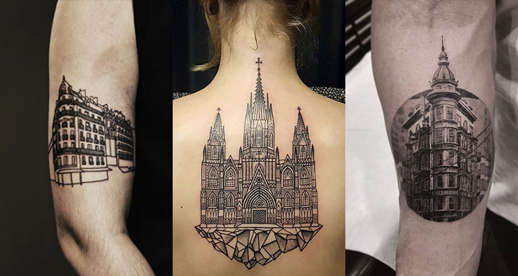 Architecture Tattoo for Who Adore the History