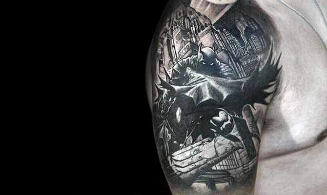 Batman Inspired Tattoos Make for a Simple