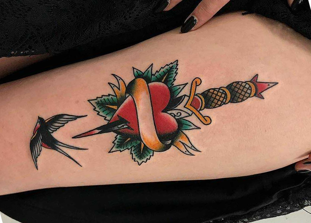 Dagger Heart Tattoo