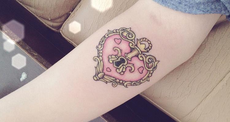 Lock and Heart Tattoo