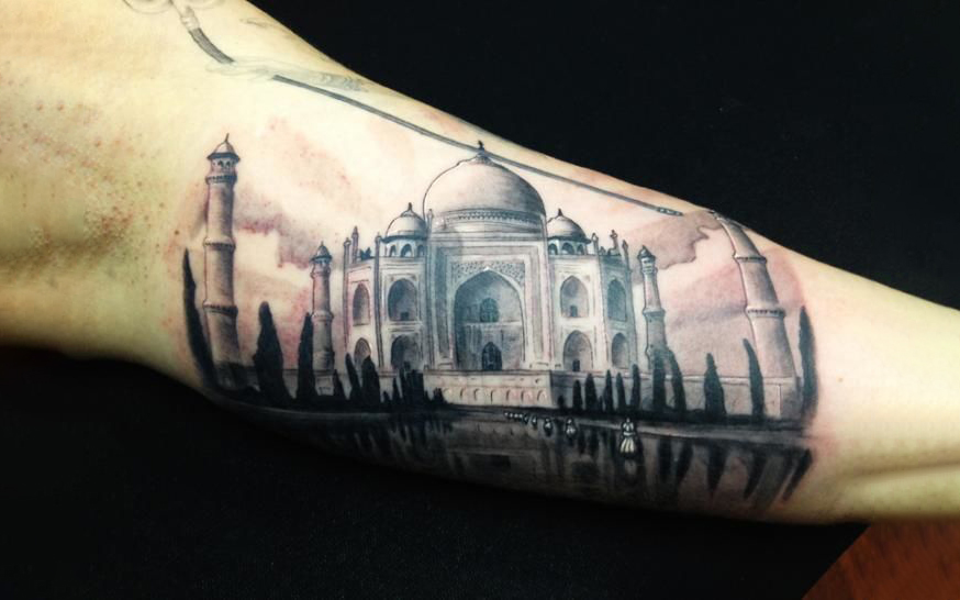 Mughal Architecture Style Tattoo