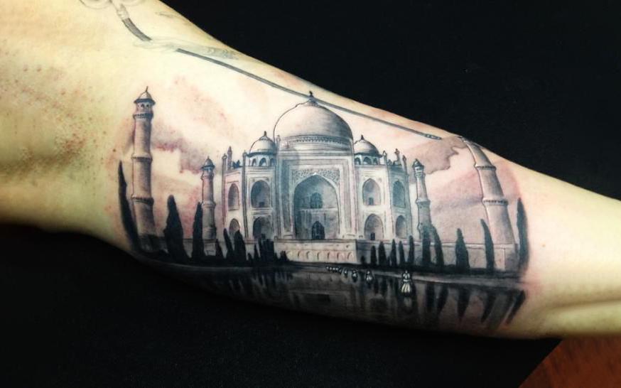 Mughal Architecture Style Tattoo