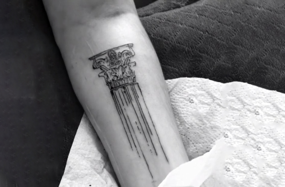 Neoclassical Architecture Style Tattoo