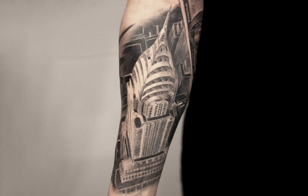 Art Deco Architecture Style Tattoo