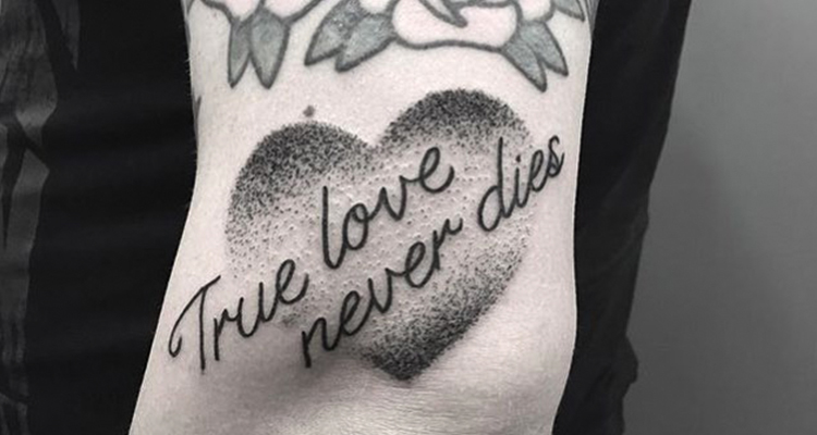 Quote Heart Tattoo