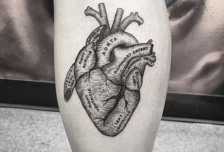 Realistic Heart Tattoo