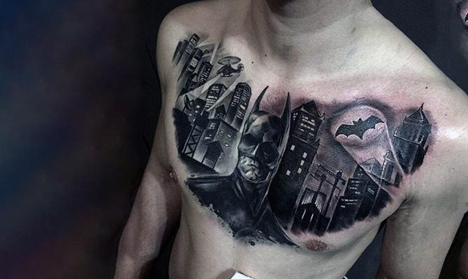 The Bat Signal tattoo